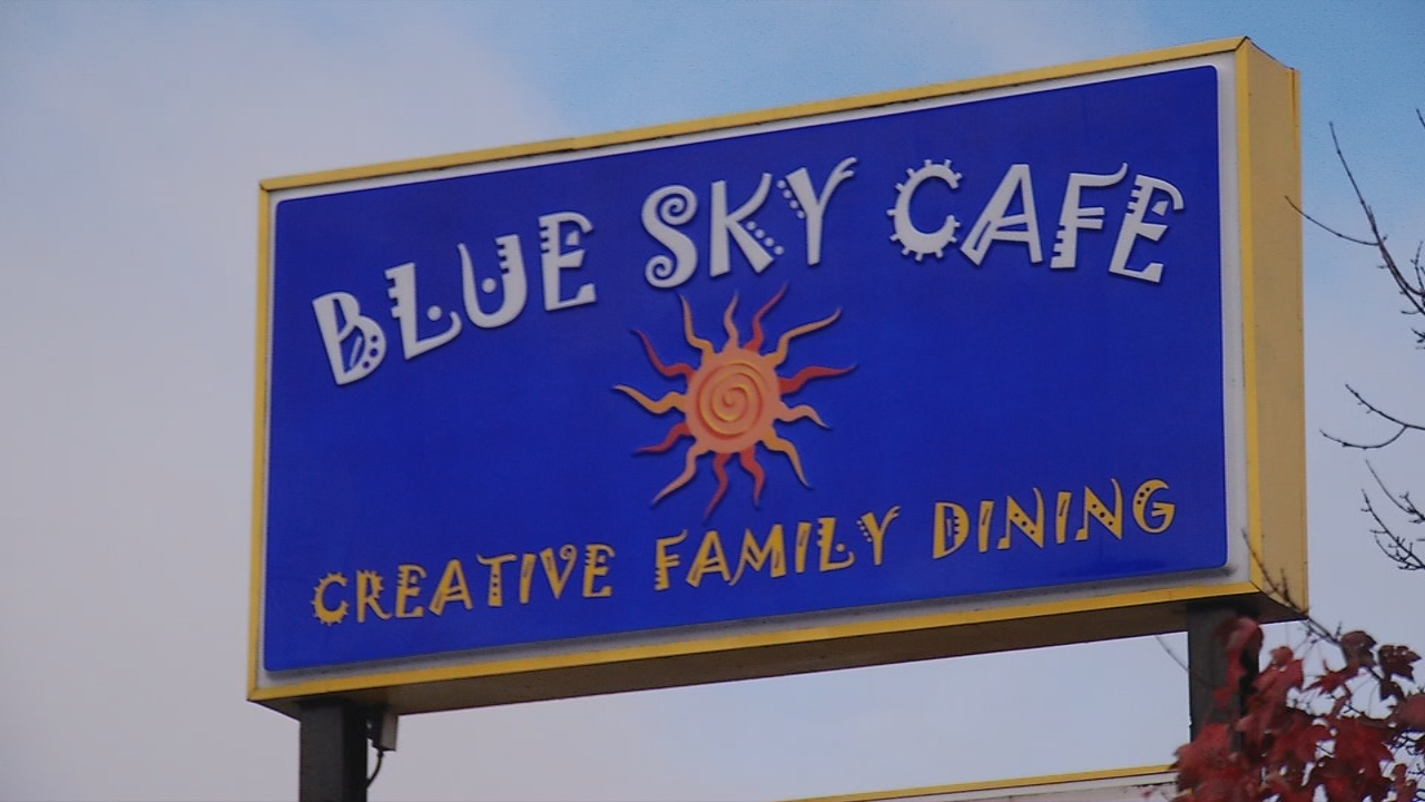 Blue Sky Cafe is a colorful family spot in Fletcher that's been whipping up creative food for the last 15 years. (Photo credit: WLOS Staff)
