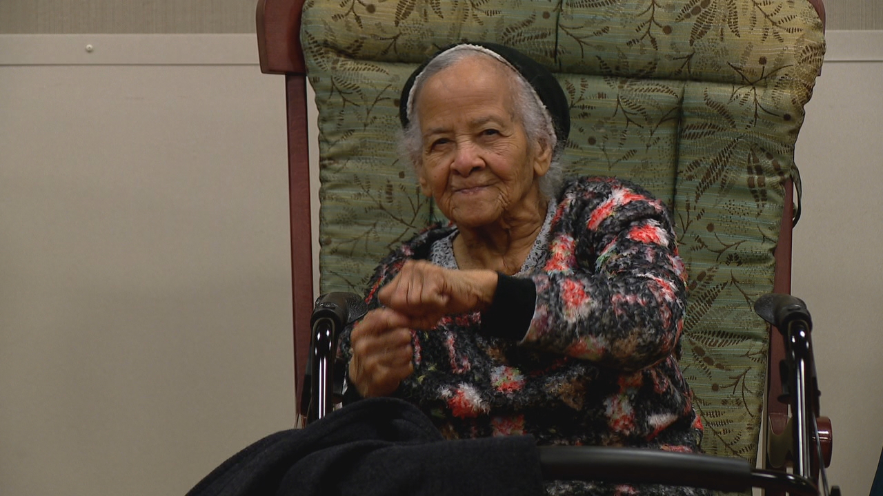 Thelma Wilkerson, who is battling memory loss, goes four times a week to PACE, where she receives health care and participates in exercise programs. (Photo credit: WLOS staff)