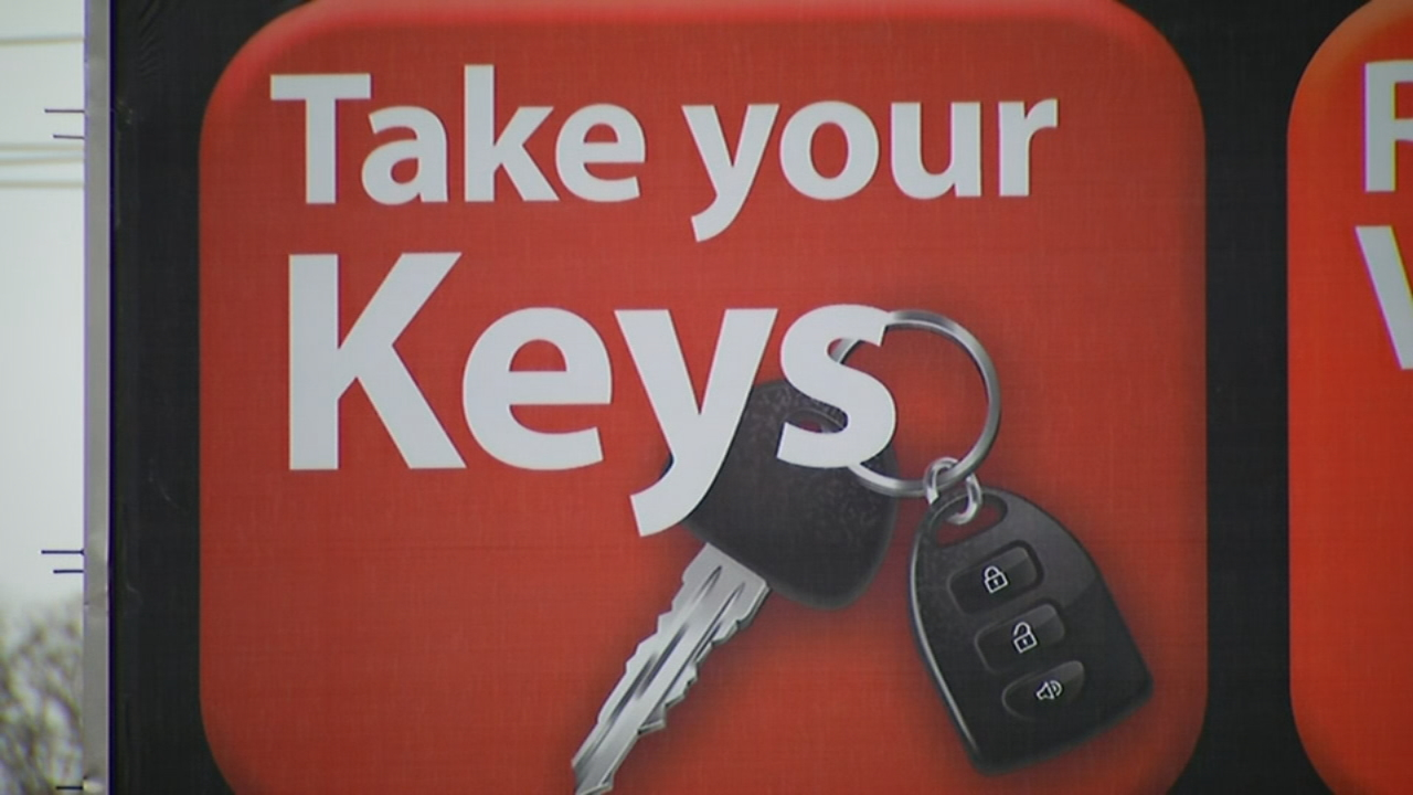 The holiday season is upon us! The Henderson County Sheriff's Office is asking you to remind yourself and others when you leave the car to Hide your belongings in your vehicle, Lock your car doors and Take your car keys. (Photo credit: WLOS Staff)