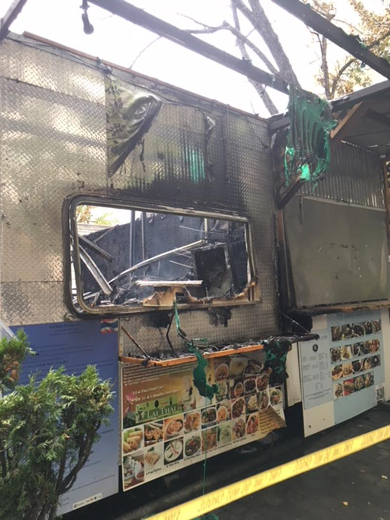 Lai Thai food cart catches fire - Photo from Monty Orrick 1.JPG