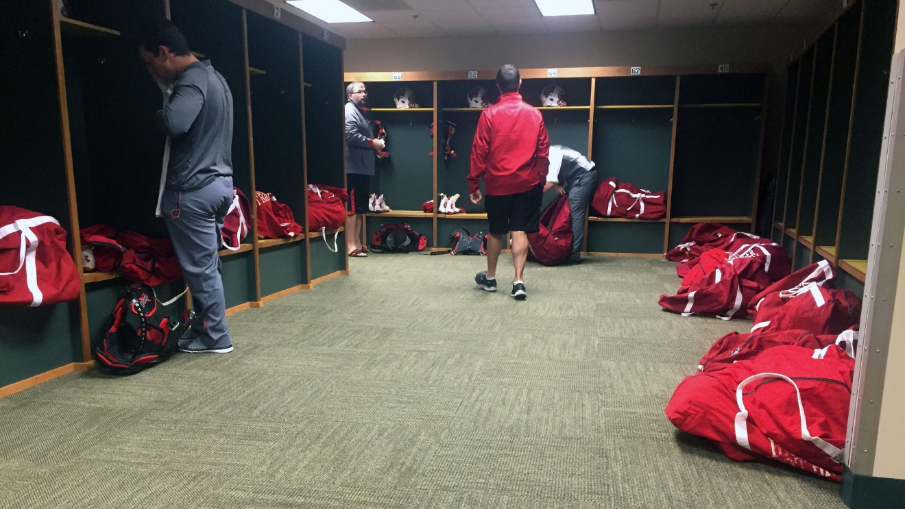 Wisconsin Badgers Volleyball Locker Room