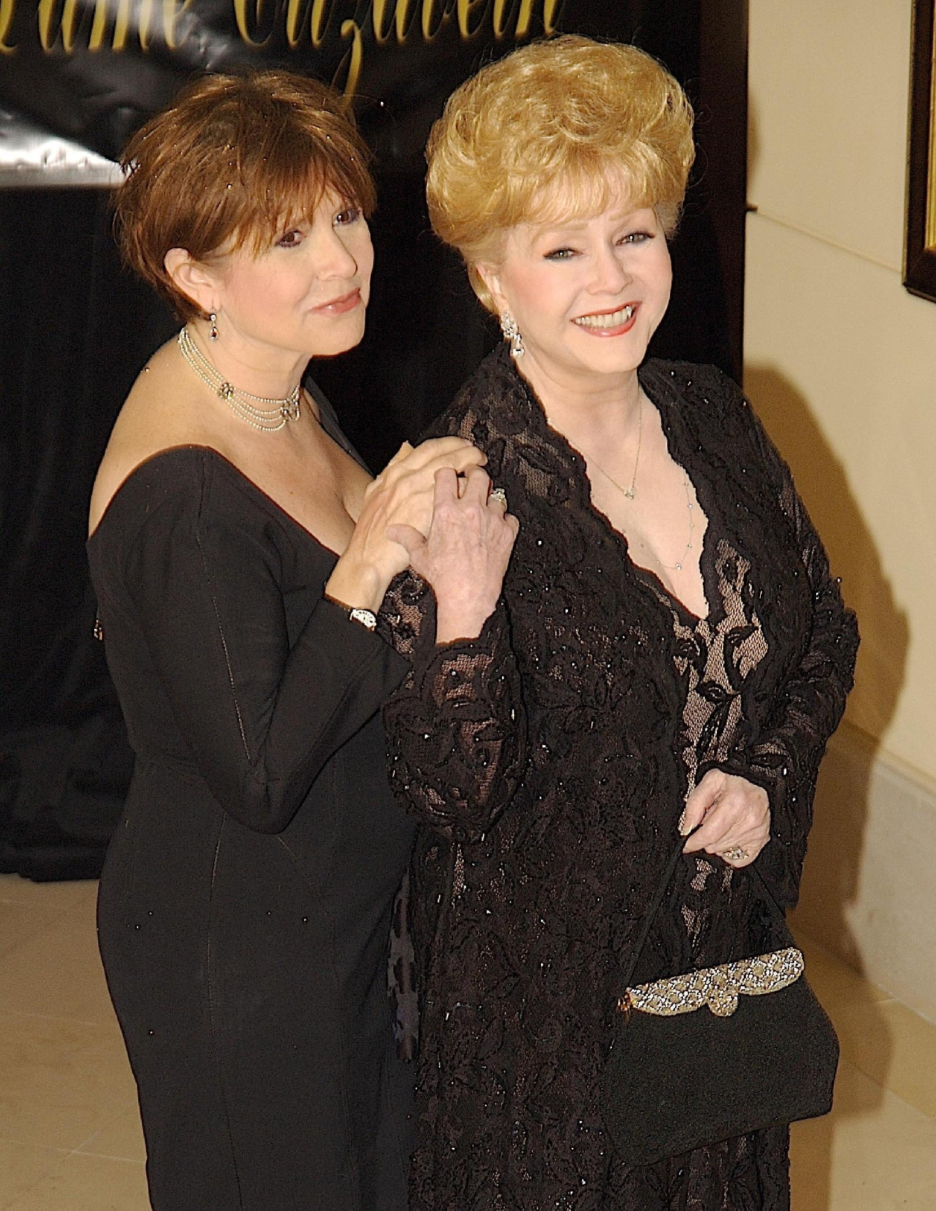 Debbie Reynolds and Carrie Fisher                  Dame Elizabeth Taylor celebrates her 75th Birthday at The Ritz Carlton                  Las Vegas, Nevada - 27.02.07                                    Featuring: Debbie Reynolds and Carrie Fisher                  Where: NV, United States                  When: 27 Feb 2007                  Credit: Tommy Gravad / WENN