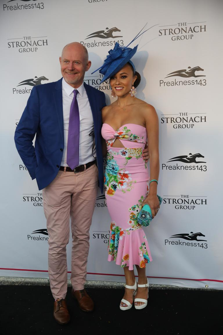 Preakness:{ } How gorgeous and spring-y is this pink cut out dress? (Laura Wainman/DC Refined)