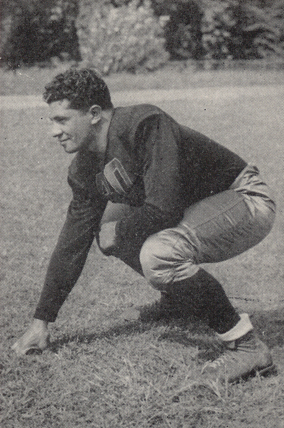 Lombardi was undersized for the position at 5-8 and about 180 pounds. He still formed one of the Seven Blocks of Granite.  (Courtesy Fordham University)