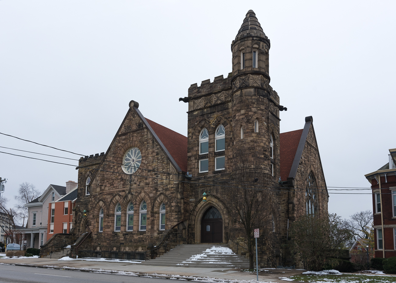 ANSWER: Mt. Auburn Presbyterian Church at 103 William Howard Taft Road in Mt. Auburn. The Presbyterian church was dedicated in 1869. / Image: Phil Armstrong, Cincinnati Refined // Published: 1.19.19