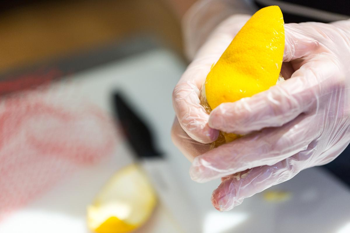 Oranges are peeled to make chocolate-covered, candied orange peel.  --  Image: Daniel Smyth Photography