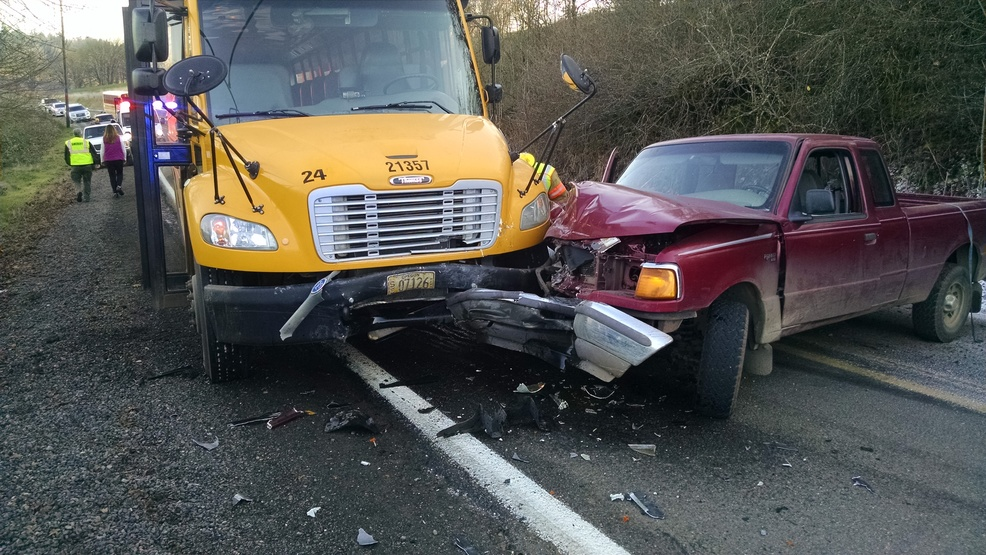 Driver Crashes Head On With School Bus No Reports Of