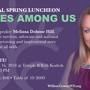Domestic violence survivor speaking at Willow luncheon