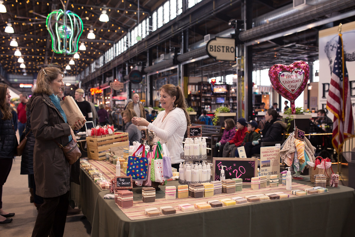 Weekend craft market at Pybus Market (Image: Paola Thomas / Seattle Refined)