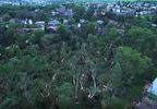 Nick Langolf used his drone to capture this image of fallen trees following the storm.