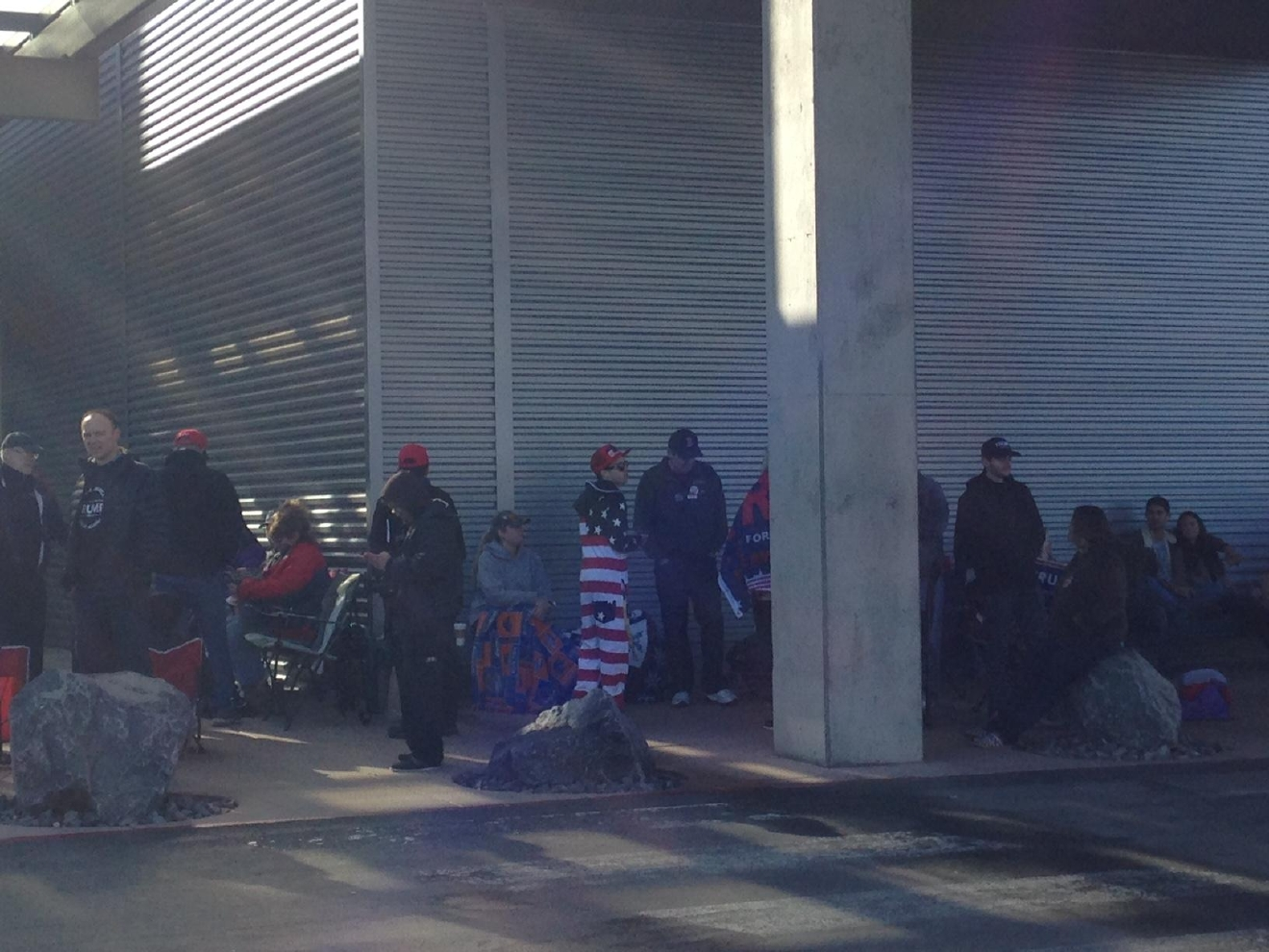 Northern Nevadans line up to see presidential candidate Donald Trump at his Reno campaign rally, just days prior to the general election, on Nov. 5, 2016. (SBG)