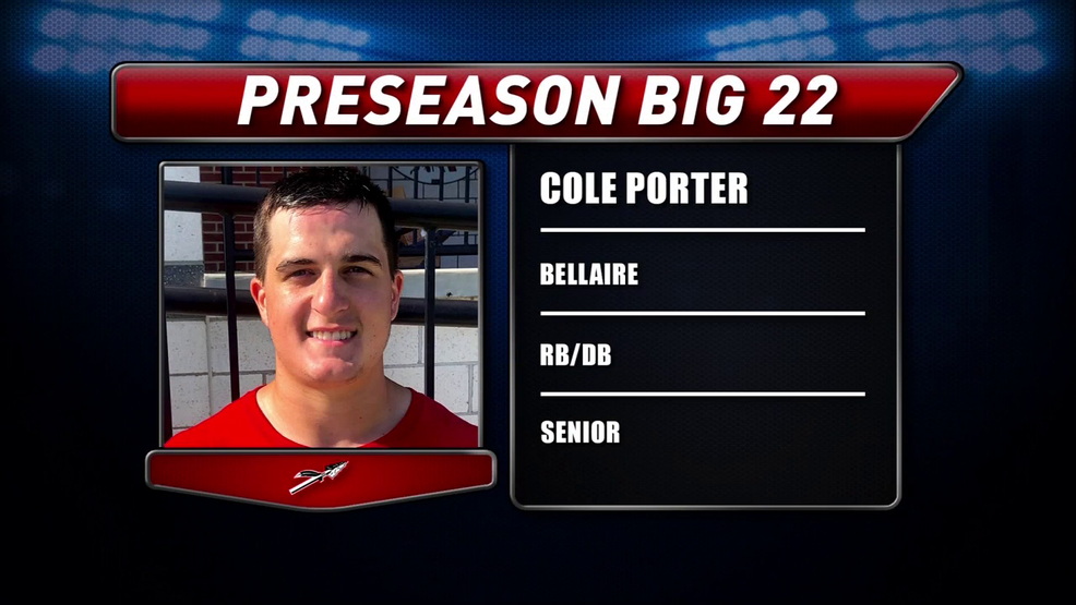 Preseason Big 22 Profile; Cole Porter, Bellaire Big Reds