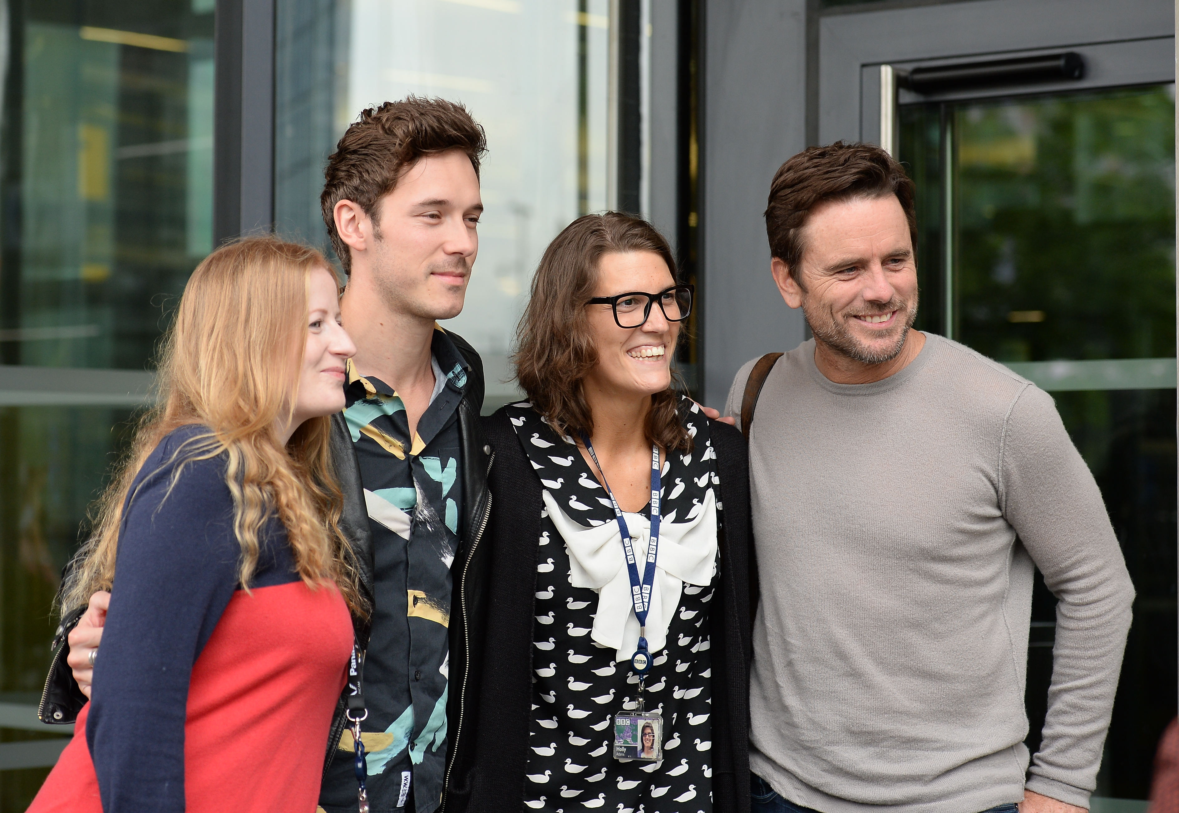 The cast of 'Nashville' arrive at the BBC Breakfast studios at MediaCityUK before appearing on the show Featuring: Sam Palladio, Charles Esten Where: Manchester, United Kingdom When: 13 Jun 2016 Credit: Steve Searle/WENN.com