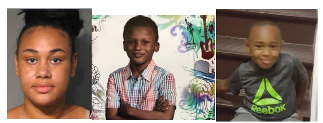 Courtney Ashe, Jalen Sills-Russell, 9, and Cameron Martin, 5. (Loudoun County Sheriff's Office)
