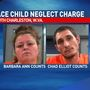 Two face child neglect charge after police say kids were playing with knives