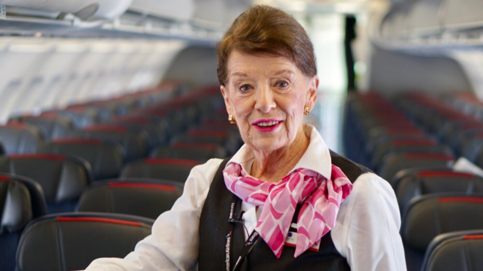 world s most senior flight attendant celebrates 60 years in the sky