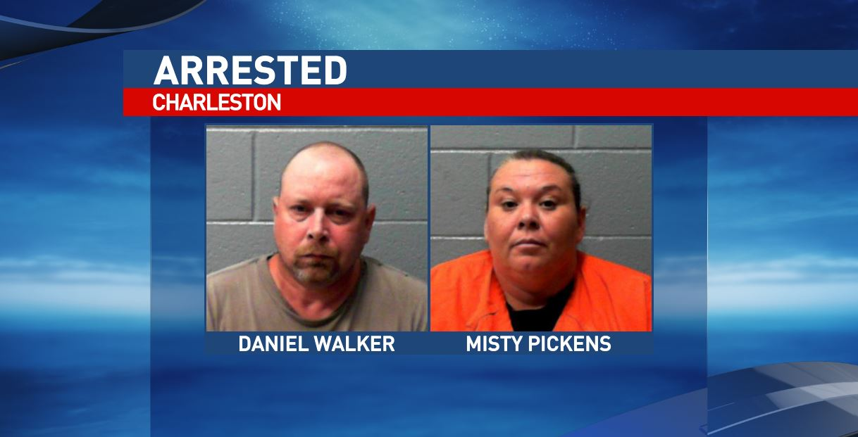 Daniel Walker and Misty Pickens are charged with cultivating marijuana after Charleston police found 60 marijuana plants, according to police. (West Virginia Regional Jail)