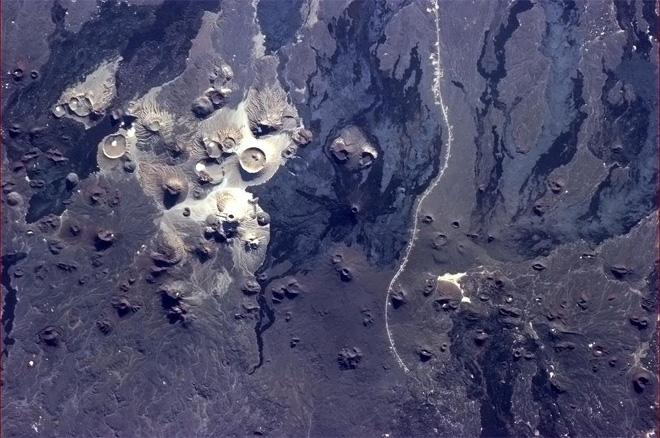 The Earth bubbled and spat like boiling porridge, long ago in Saudi Arabia. (Photo & Caption: Col. Chris Hadfield, NASA)