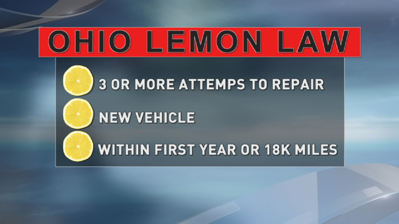 Michael Sammons got his lemon replaced by GMC after an issue that was never fixed. (WSYX/WTTE)