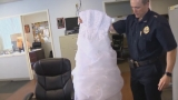 Wedding dress found on the side of a Massachusetts road