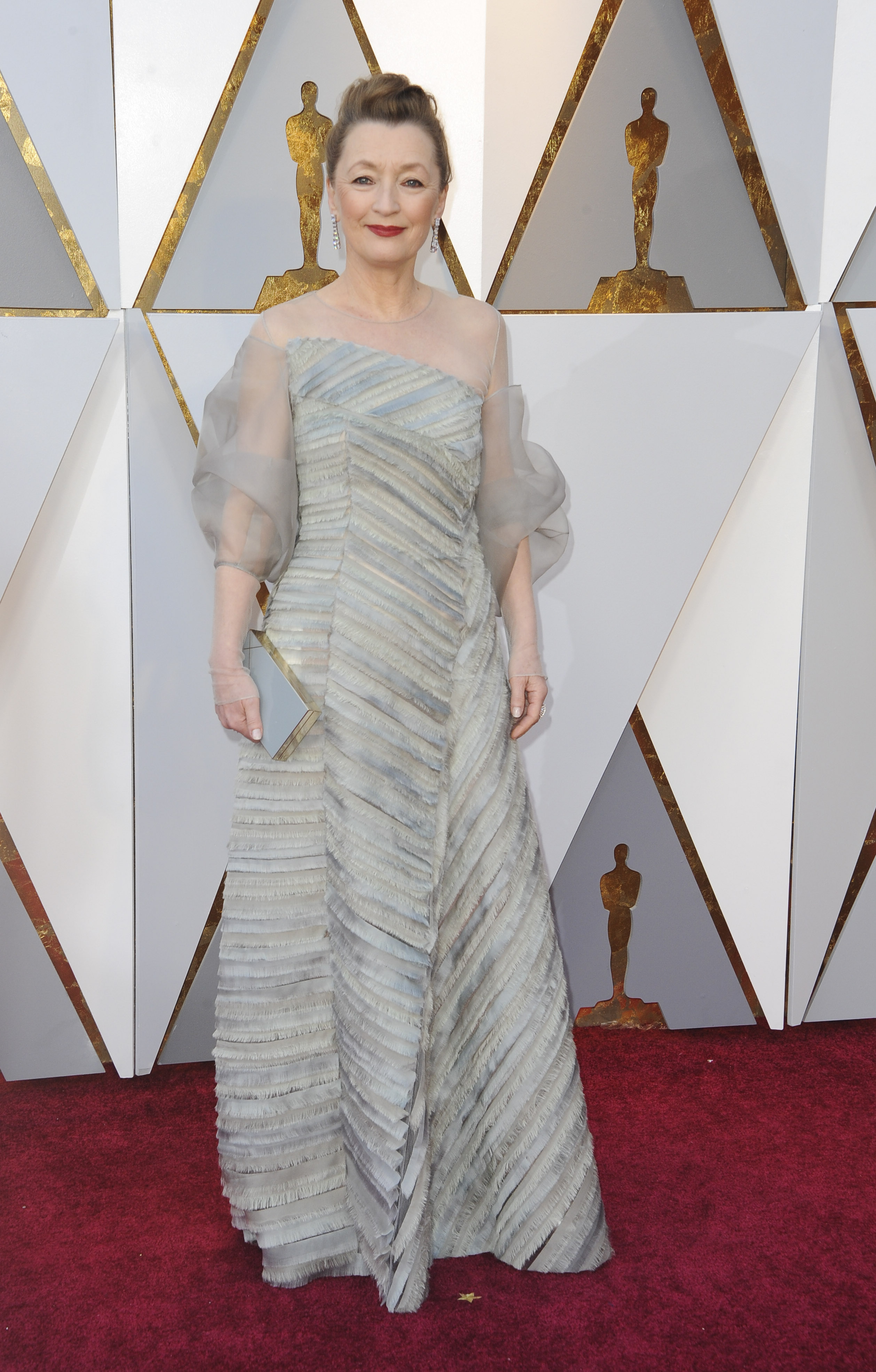 Lesley Manville arrives at the 90th Annual Academy Awards (Oscars) held at the Dolby Theater in Hollywood, California. (Image: Apega/WENN.com)<p></p>