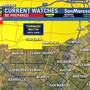 Slight risk of severe storms tonight