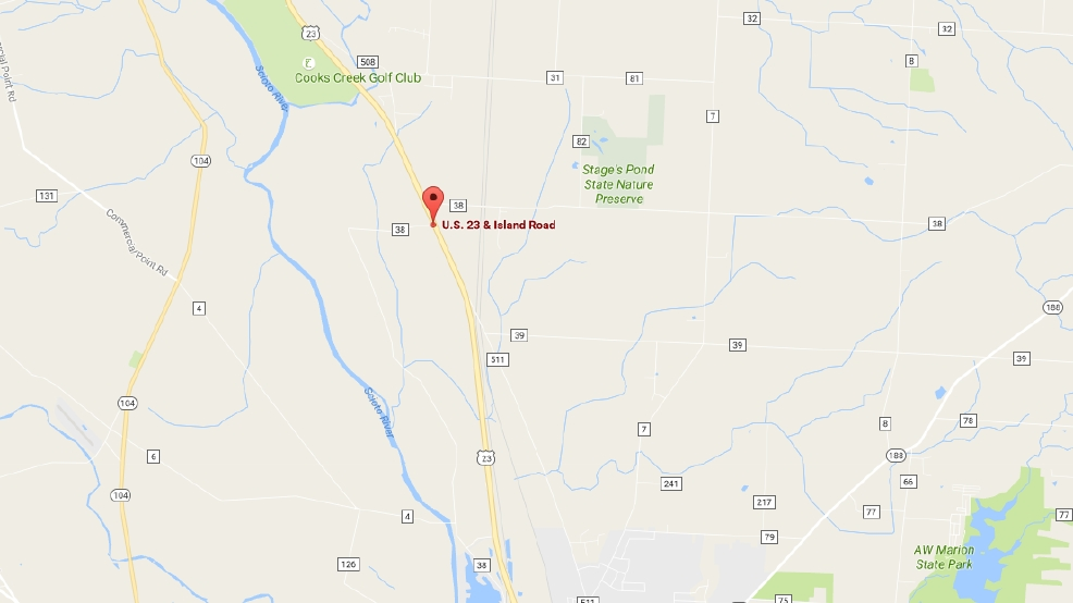 US South Closed After Crash In Pickaway County WSYX - Us 23 map