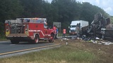 18-Wheeler overturns on Interstate 10