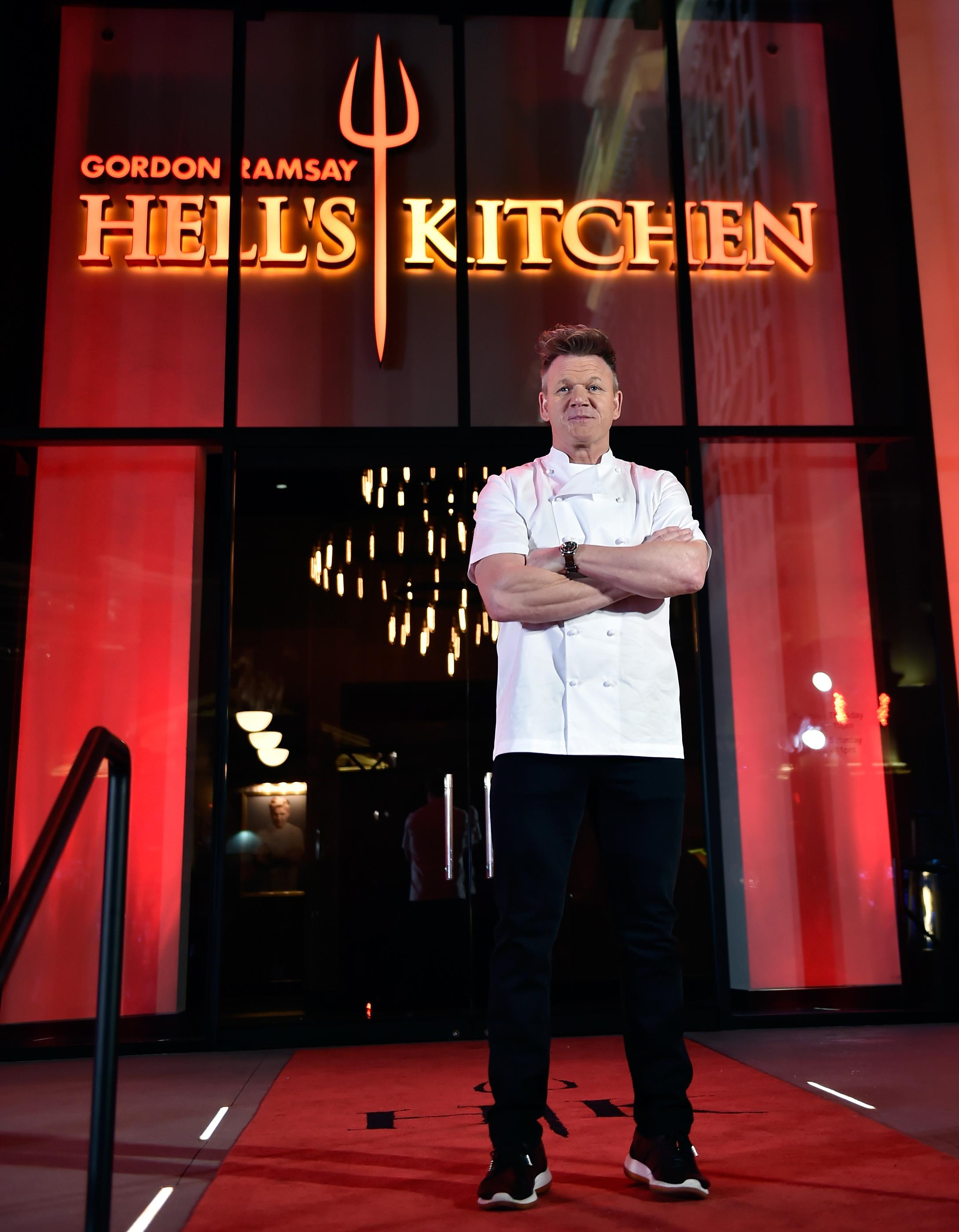 Chef Gordon Ramsay attends the grand opening of Gordon Ramsay Hell's Kitchen at Caesars Palace Friday, Jan. 26, 2018, in Las Vegas. CREDIT: David Becker/Las Vegas News Bureau