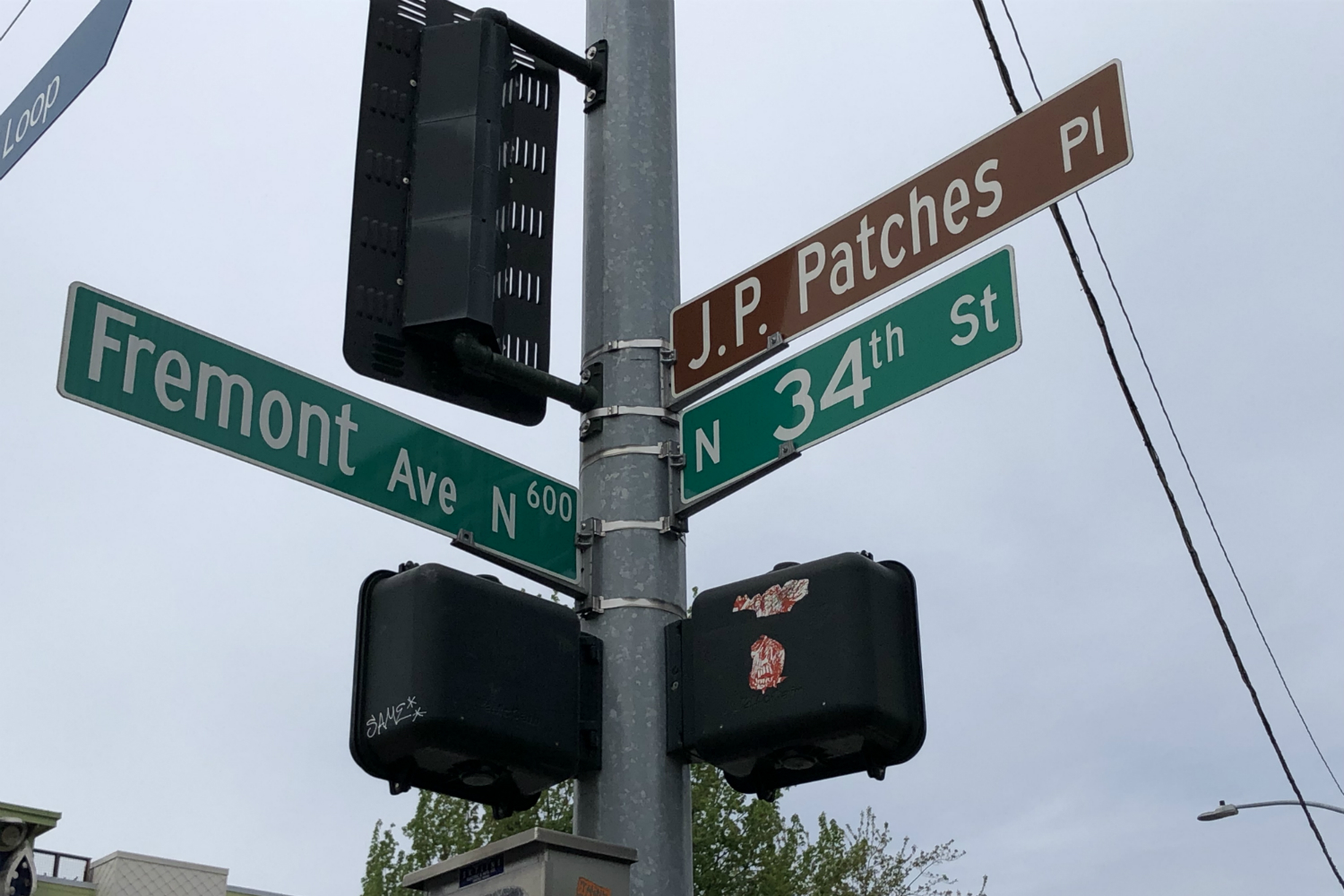 <p>J.P. Patches Place sign. (Credit: Jeff Totey)</p>