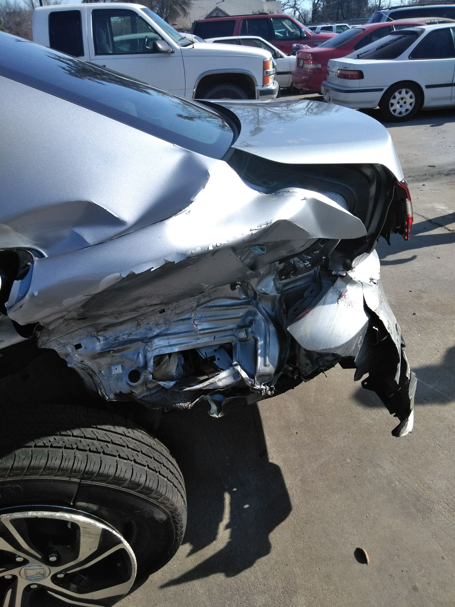 Lower left inner rear wheel detached estimated auto damages $12,000.{&amp;nbsp;} Courtesy Natasha Arnold.{&amp;nbsp;}<p></p>