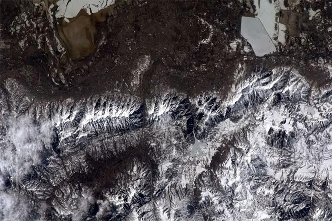 Utah ski hills, dry powder and Winter Olympics. Next year I'll get some skiing in.  (Photo & Caption: Col. Chris Hadfield, NASA)