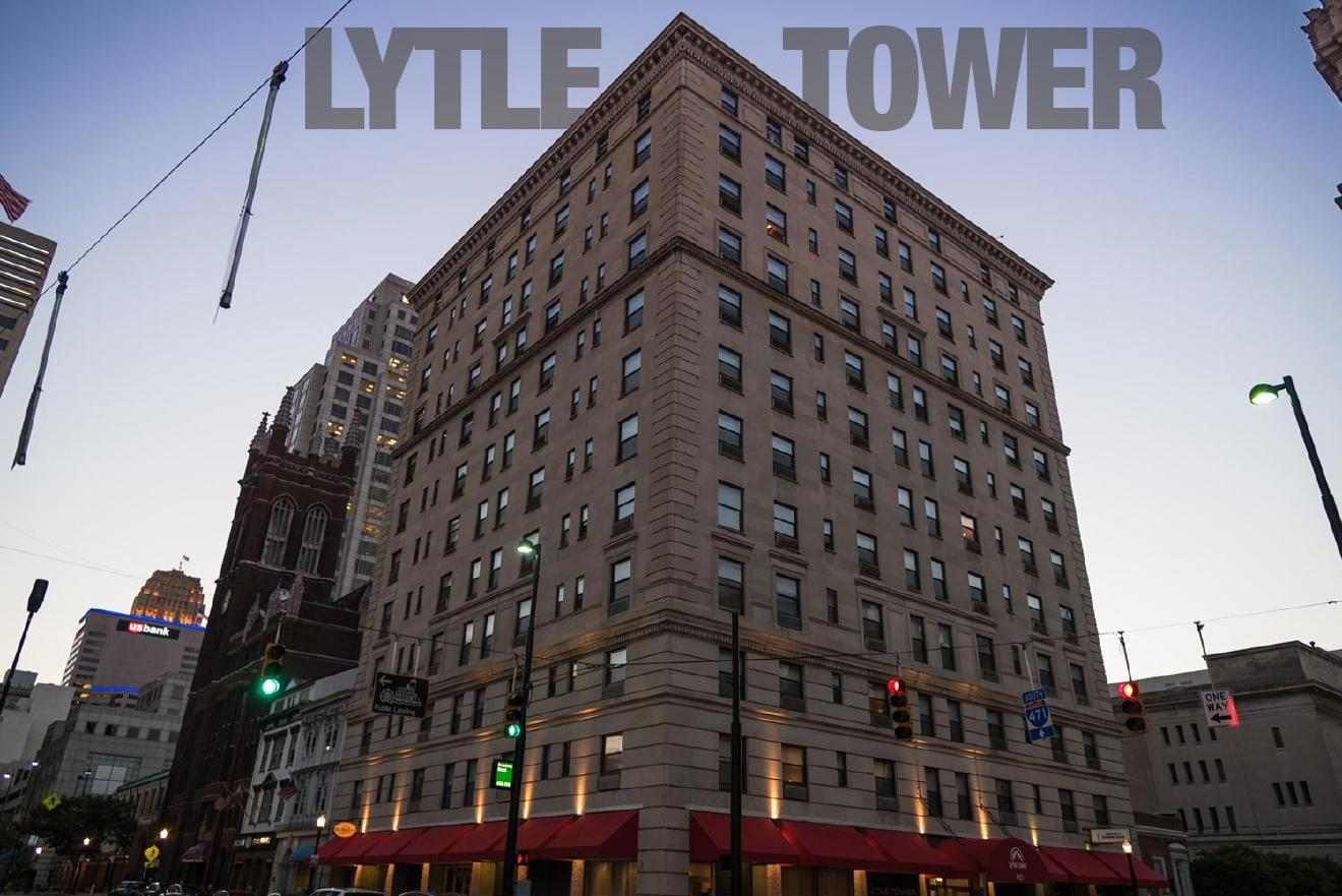 Lytle Tower / DESCRIPTION: 12 stories of comfortable apartments with beautiful kitchens and bathrooms, a gym, friendly building staff, and a communal lounge on a quiet block in the heart of the city. / APARTMENTS START AT: $810 per month / ADDRESS: 405 Broadway Street / PHONE: (513) 370-2350 / IMAGE: Phil Armstrong, Cincinnati Refined // Published: 1.17.18