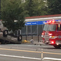 Rollover crash snarls traffic through Shoreline