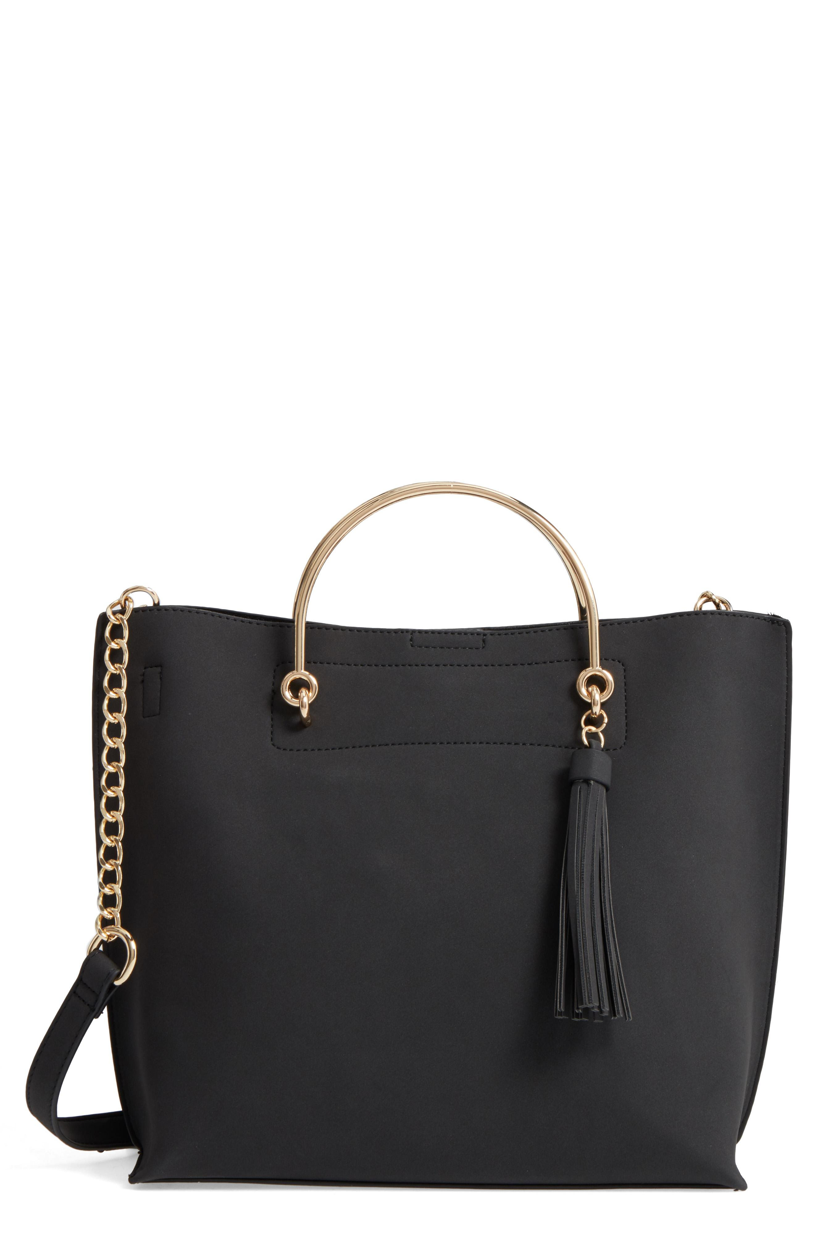 BP. Metal Handle Faux Leather Satchel from Nordstrom // Price: $45.00 //{&amp;nbsp;}(Image: Nordstrom // Nordstrom.com)<p></p>