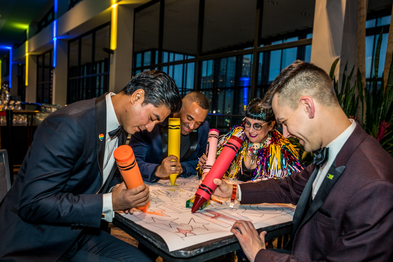 The co-chairs: Aftab Pureval, Jordan Young, Pam Kravetz and Eric Anderson / Image: Catherine Viox