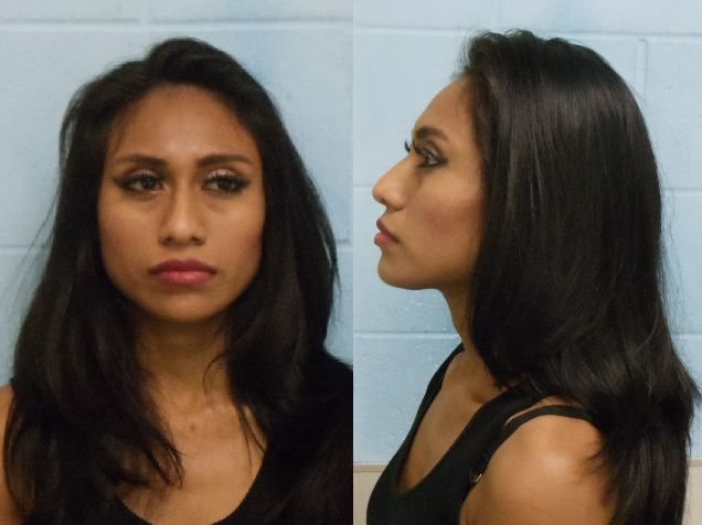 Veronica Cruz Lopez, 22, of McAllen is charged with prostitution, a Class B misdemeanor. (Photo courtesy of the McAllen Police Department)