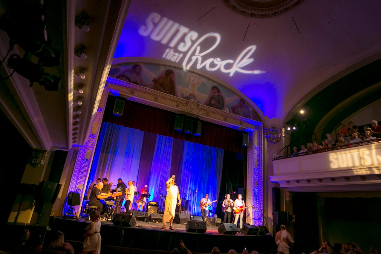 "The 11th annual Suits that Rock show was held at The Carnegie in Covington on Saturday, June 16. The show featured musicians — ""suits"" by day who drop their briefcase for an instrument – performing a list of popular songs related to the college party scene. The event benefitted the children's arts education programming at The Carnegie. A second performance is set for June 23. / Image: Mike Bresnen // Published: 6.17.18"