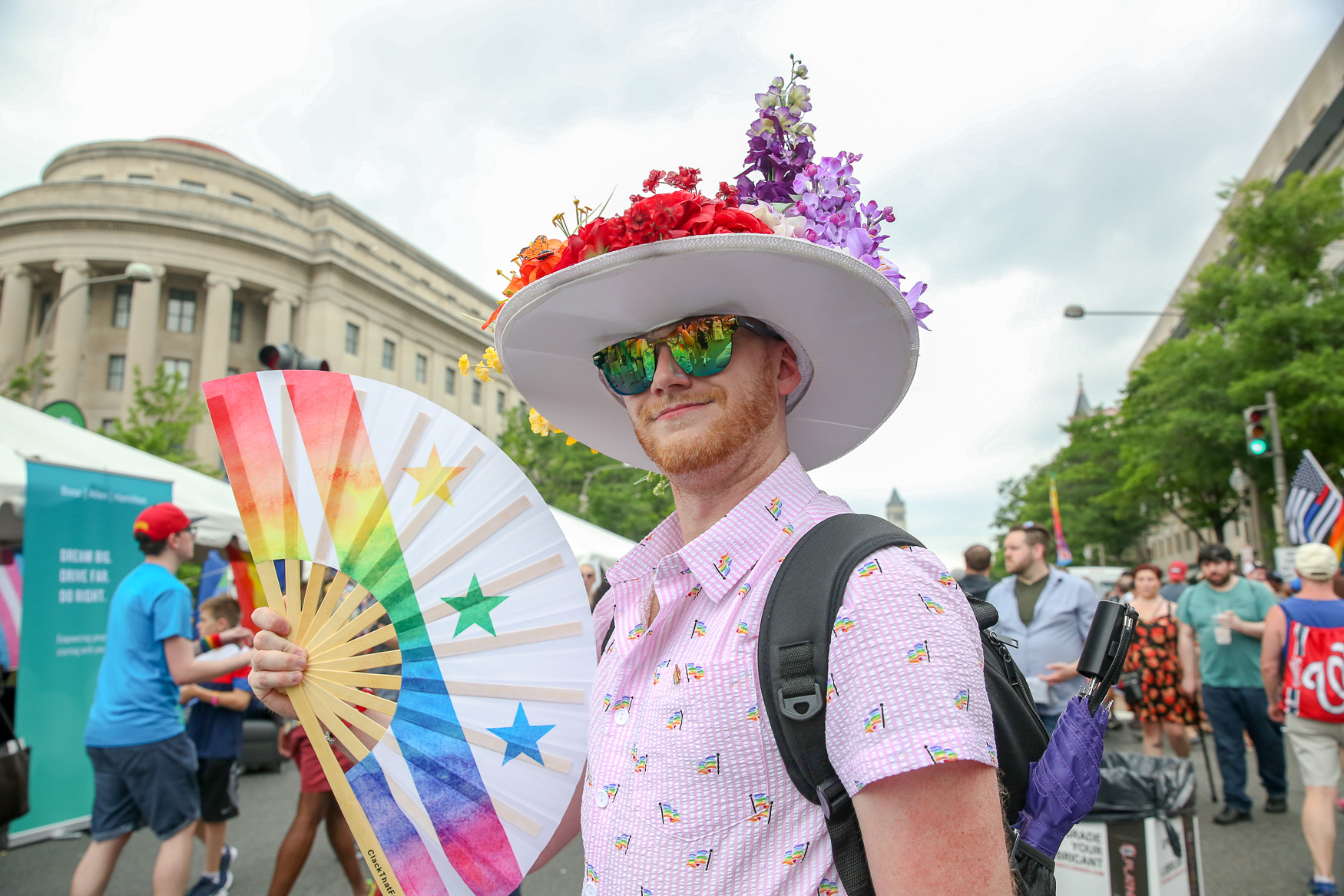 D.C. may not be known for its colorful wardrobes, but that all changes during Pride weekend. Here are the most eye-catching{ }looks we spotted. (Amanda Andrade-Rhoades/DC Refined)