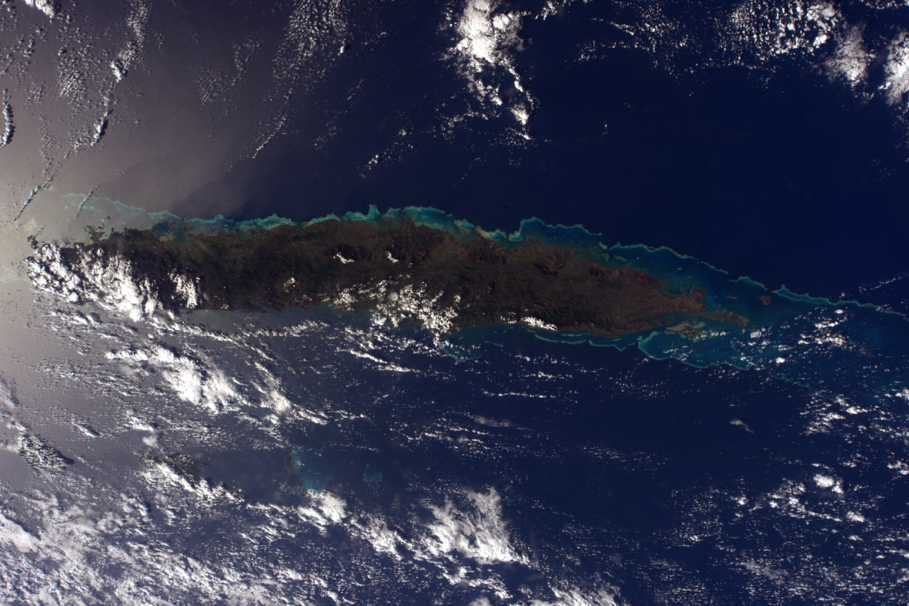 At the other end of the world, New Caledonia is a jewel of the Pacific. (Photo & Caption: Thomas Pesquet // NASA)
