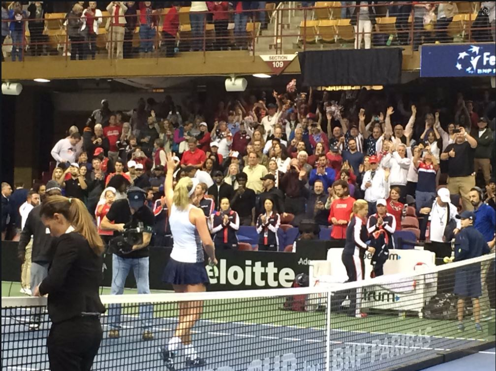 Coco Vandeweghe delivers a second victory to Team USA. (Photo: WLOS staff)