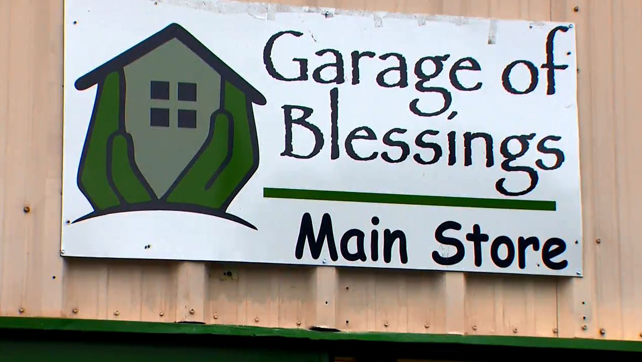 When Kristina Miller helped clean out and organize a friend's garage, everything changed and 'The Garage of Blessings' was created. (Photo: KOMO News)