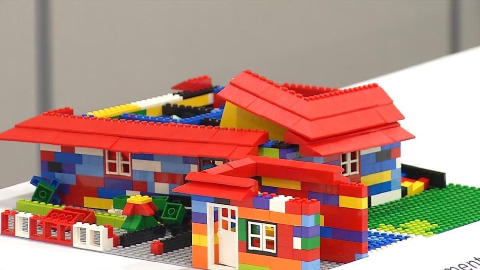 Students build Lego houses for WV Home Show
