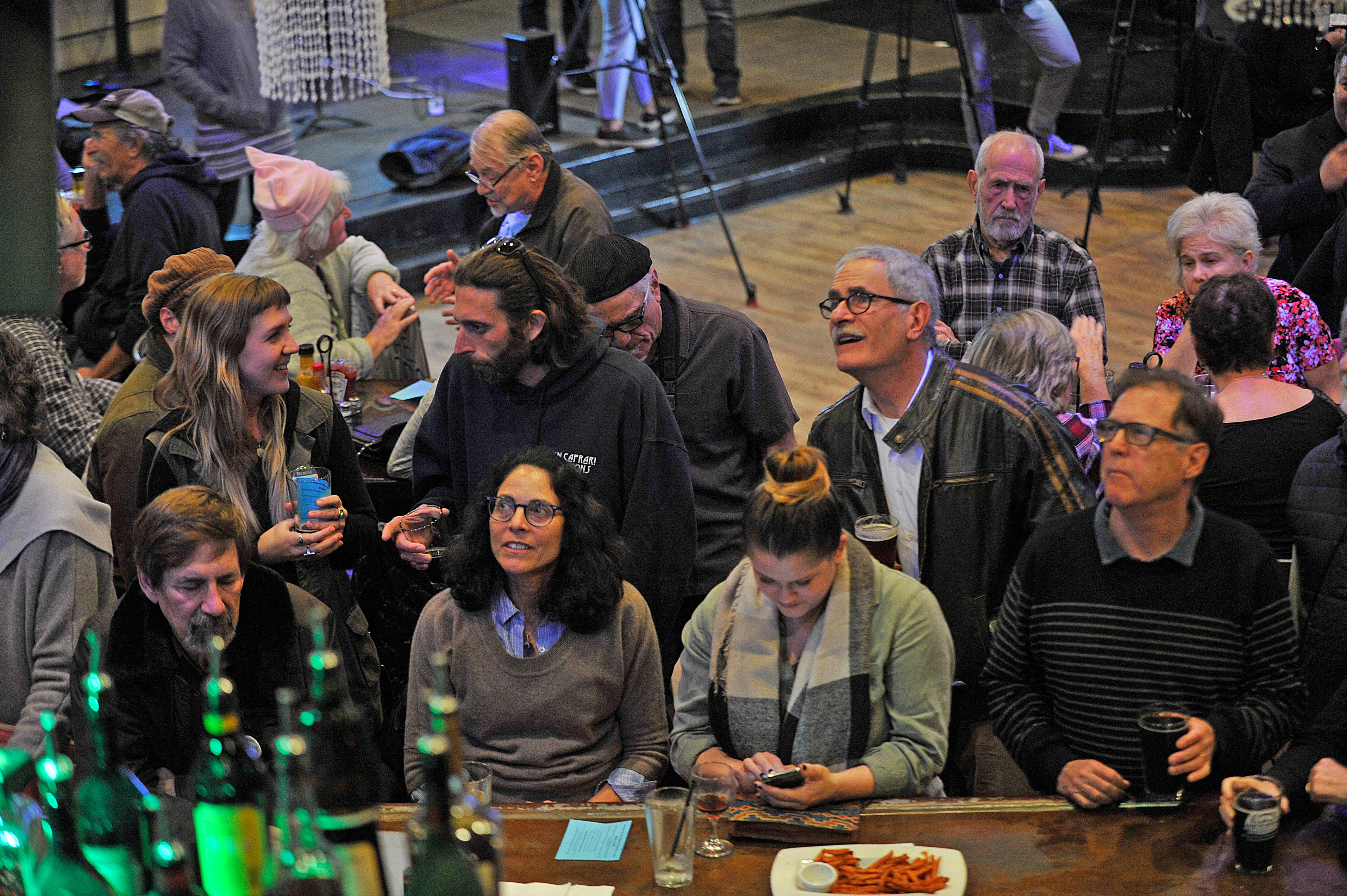 The Jackson County Democratic Party and Indivisible host an election night watch party at the Grape Street Bar and Grill in Medford. Jamie Lusch / Mail Tribune