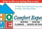 Home Comfort Experts Spring Give-a-way!