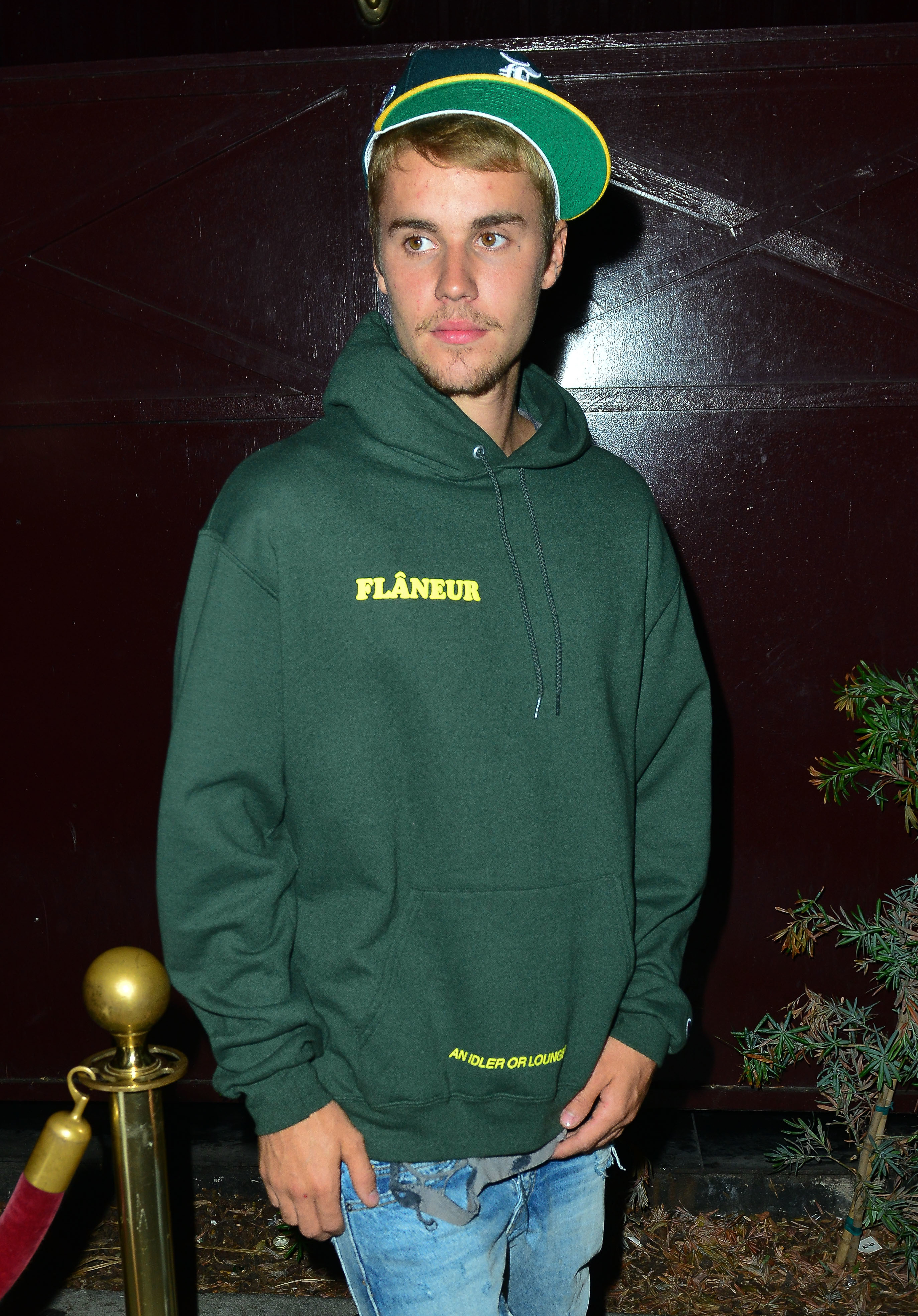 Justin Bieber leaves The Peppermint Club after attending a private church event                                    Featuring: Justin Bieber                  Where: Los Angeles, California, United States                  When: 06 Aug 2017                  Credit: WENN.com