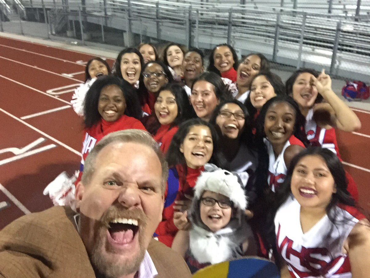 Kevin L. Child with Valley Vikings cheerleading.jpg