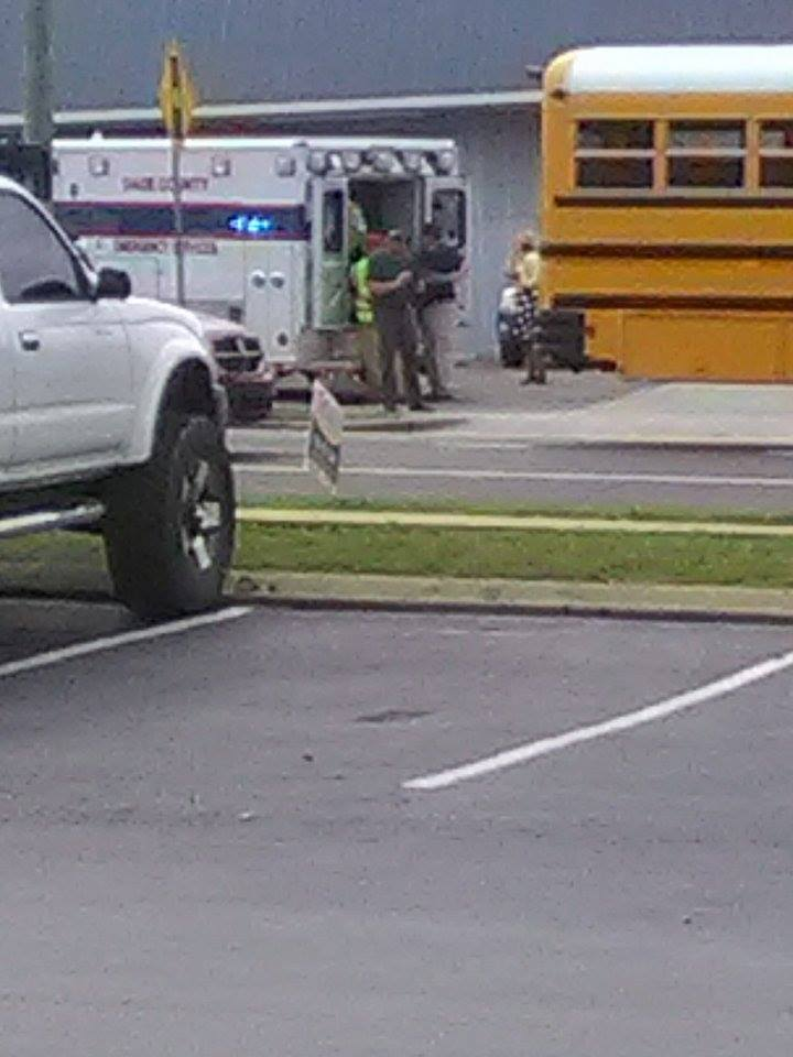 Three school buses involved in wreck in Dade County (Photo: Amber Faye Marshall)