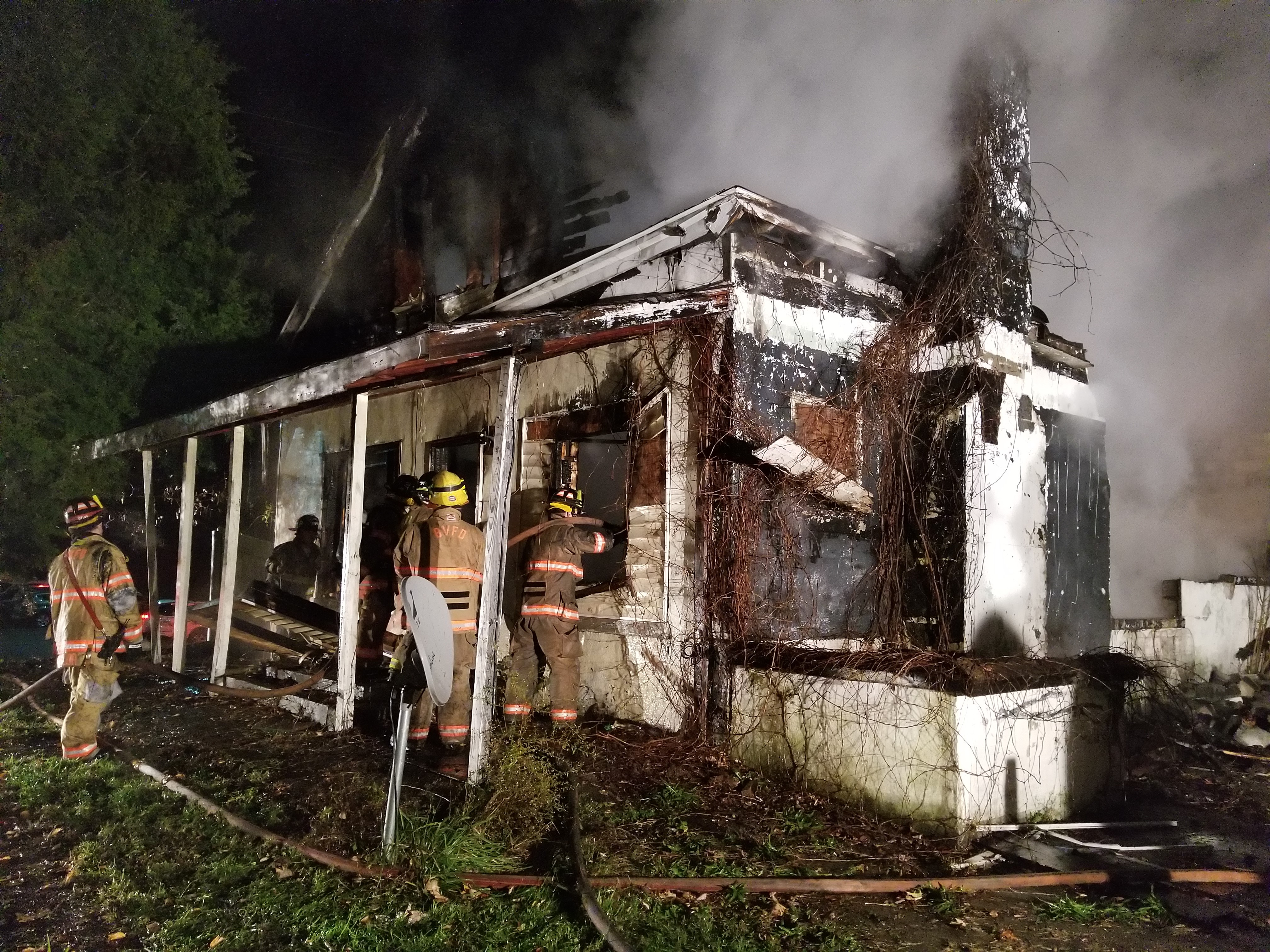 According to firefighters, the home was vacant and boarded up. (WCHS/WVAH)<p></p>