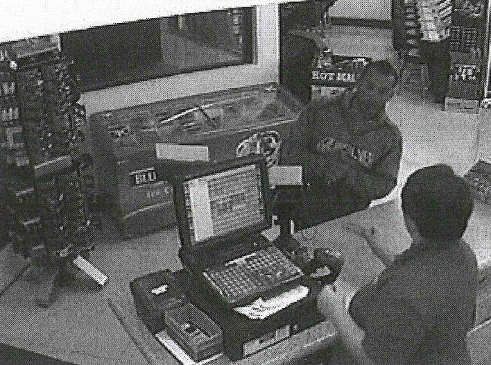 The Carson City Sheriff's Office says the man pictured is one of three who used counterfeit money at a gas station market on Oct. 5, 2017. (Photo courtesy Carson City Sheriff's Office)